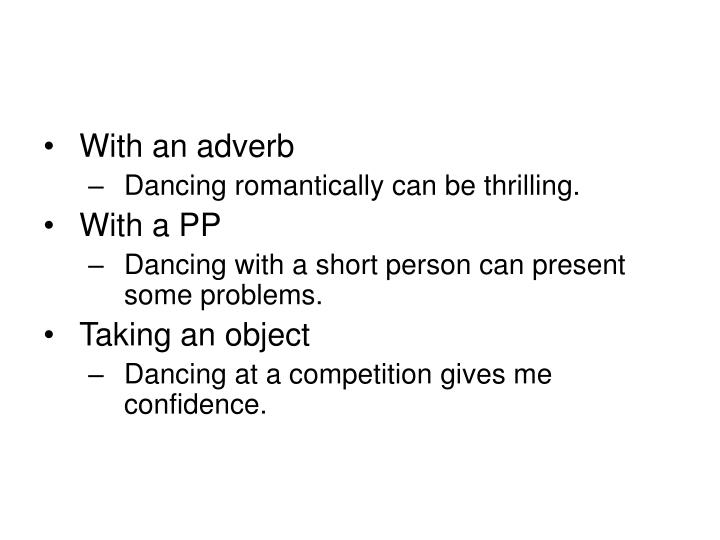 With an adverb