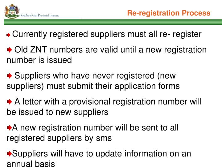 Re-registration Process