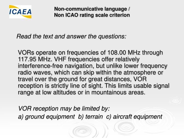 Non-communicative language /