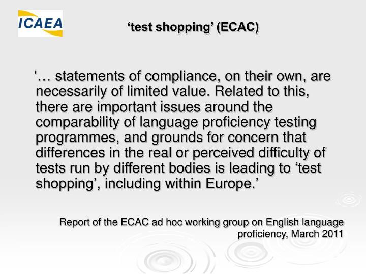 'test shopping' (ECAC)