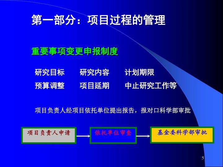 第一部分:项目过程的管理