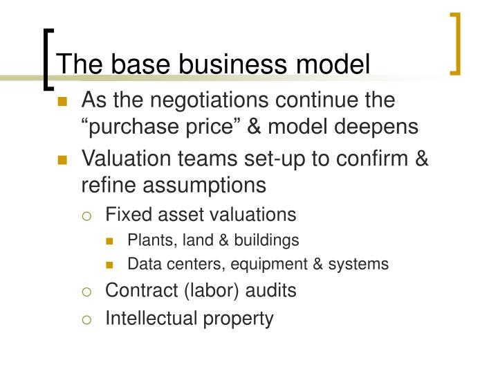 The base business model