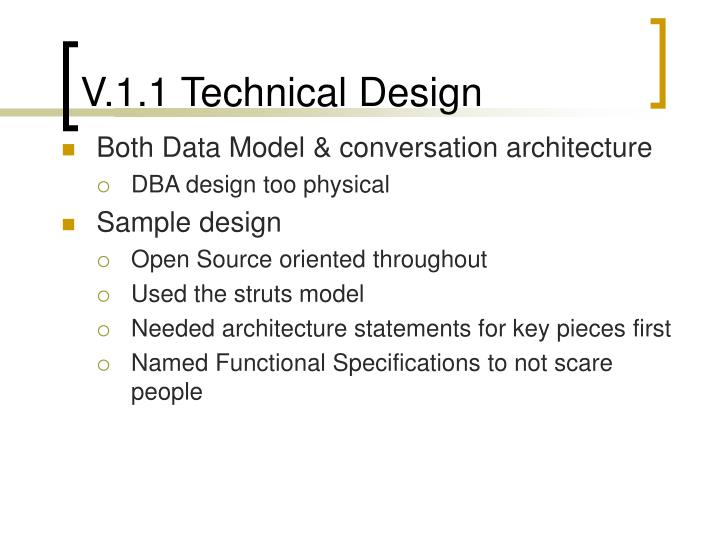 V.1.1 Technical Design