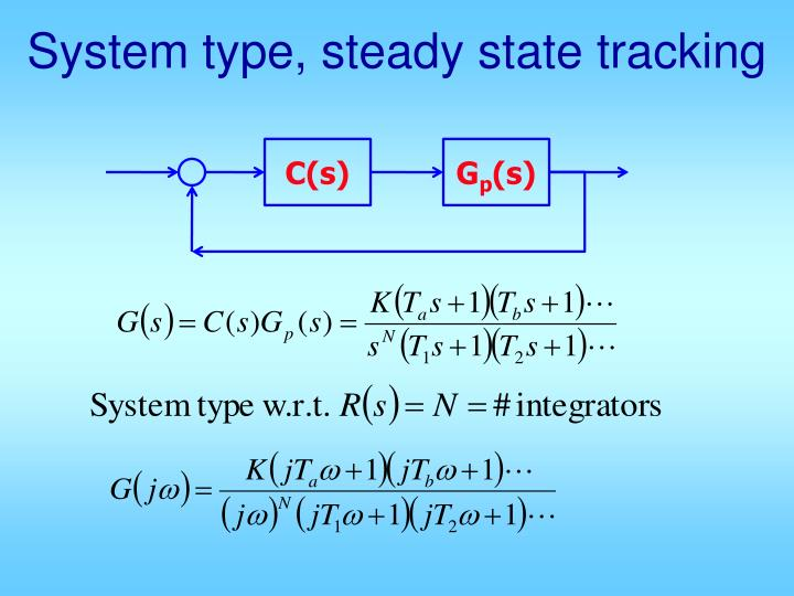 system type steady state tracking