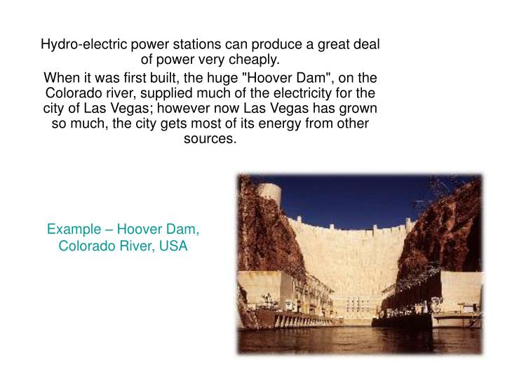 Example – Hoover Dam,
