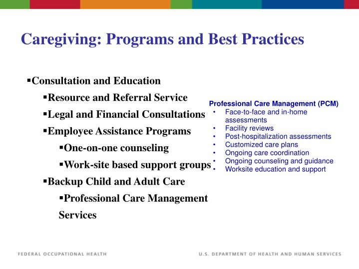 Caregiving: Programs and Best Practices
