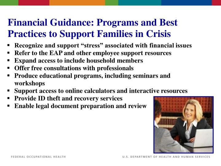 Financial Guidance: Programs and Best Practices to Support Families in Crisis