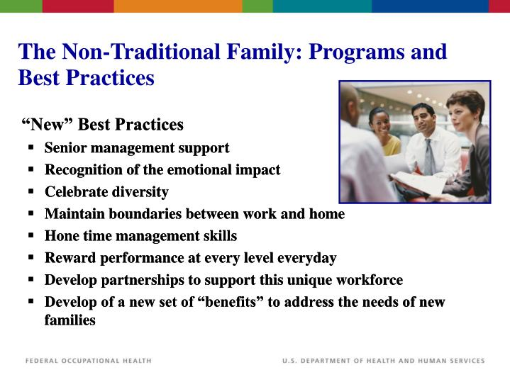 The Non-Traditional Family: Programs and Best Practices