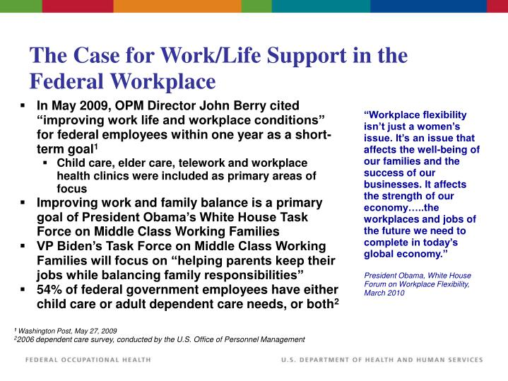 The Case for Work/Life Support in the Federal Workplace