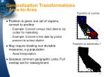 generalization transformations area to area