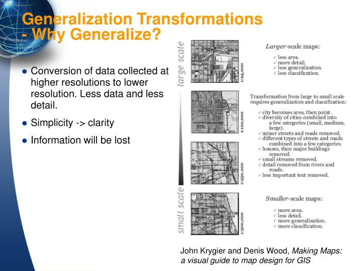 Conversion of data collected at higher resolutions to lower resolution. Less data and less detail.