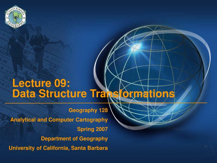 lecture 09 data structure transformations