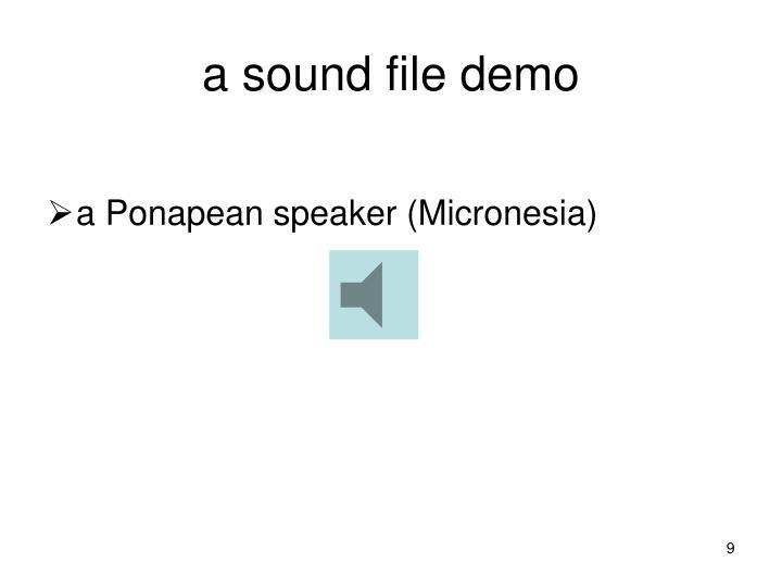 a sound file demo