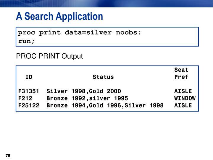 A Search Application