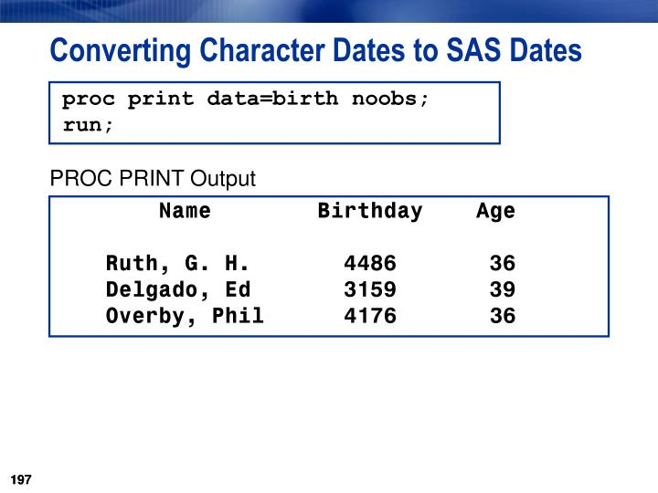 Converting Character Dates to SAS Dates