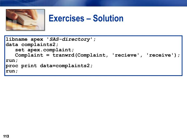 Exercises – Solution