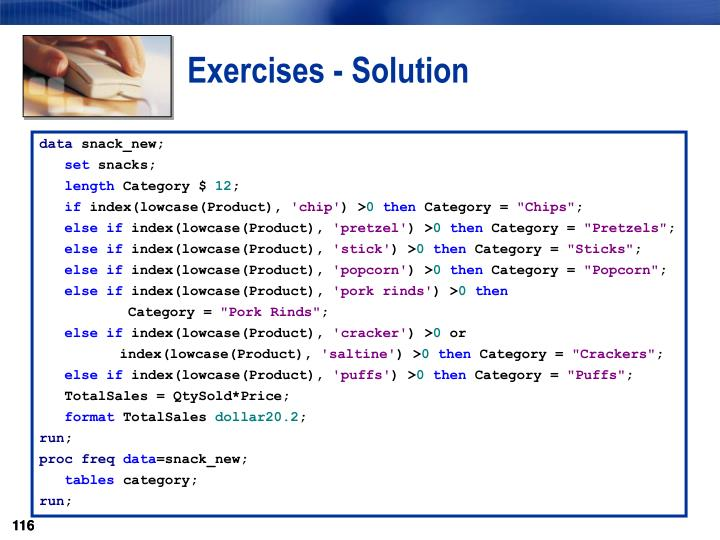 Exercises - Solution