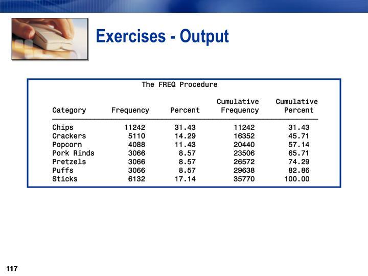 Exercises - Output