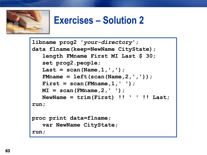 Exercises – Solution 2