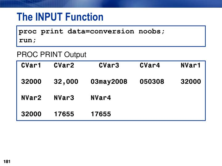 The INPUT Function