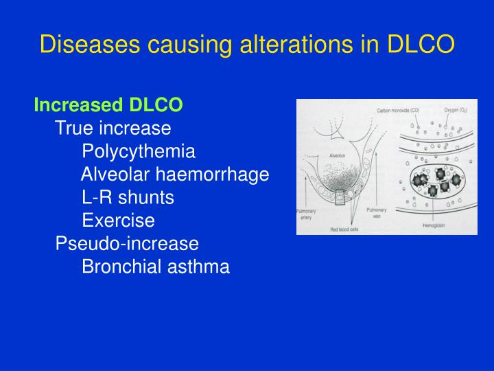 Diseases causing alterations in DLCO