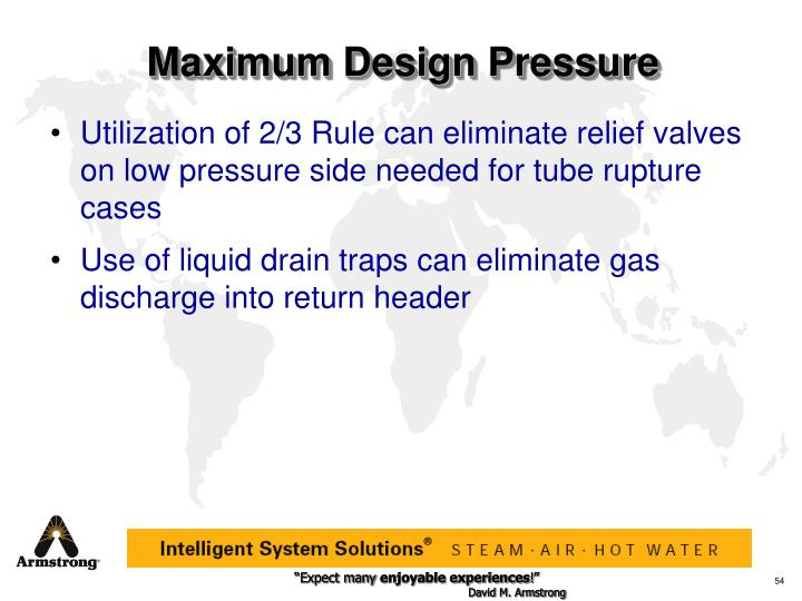 Maximum Design Pressure