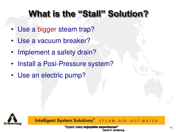 "What is the ""Stall"" Solution?"