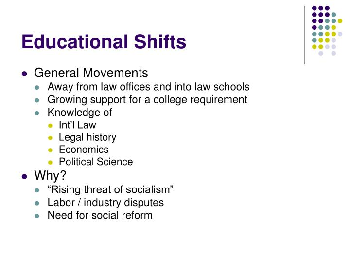 Educational shifts