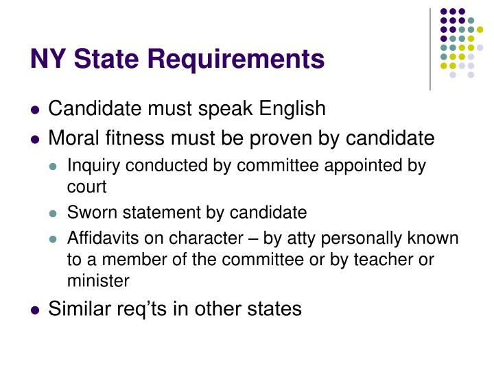 NY State Requirements