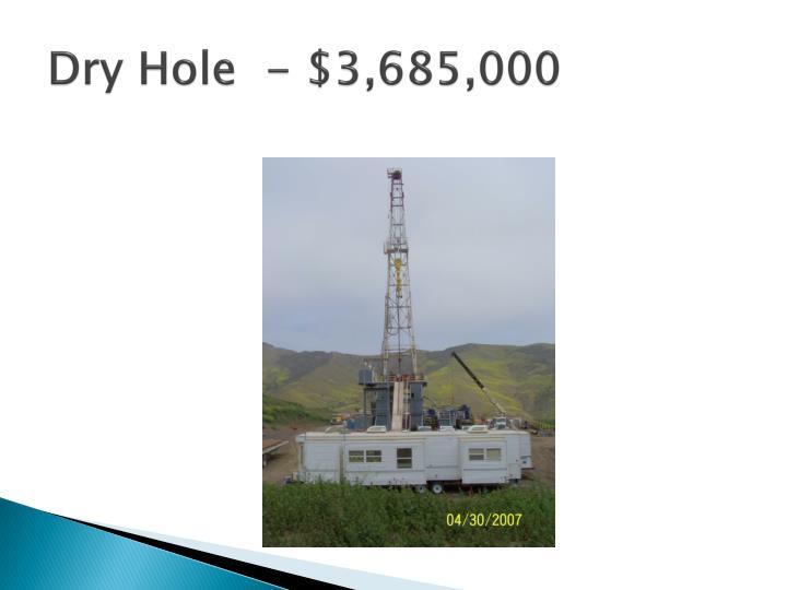 Dry Hole  - $3,685,000