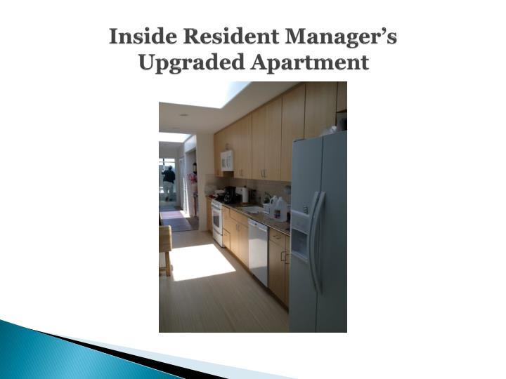 Inside Resident Manager's