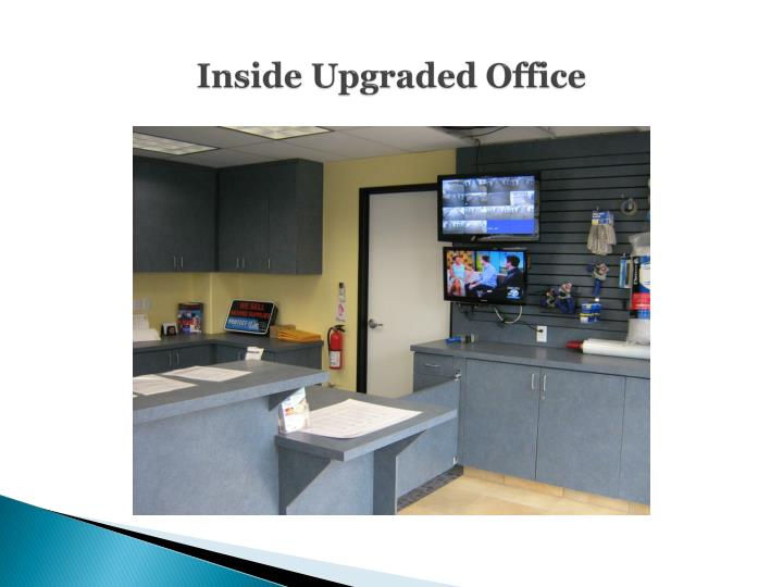 Inside Upgraded Office