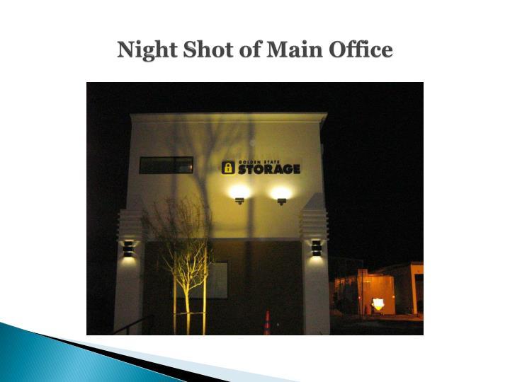 Night Shot of Main Office