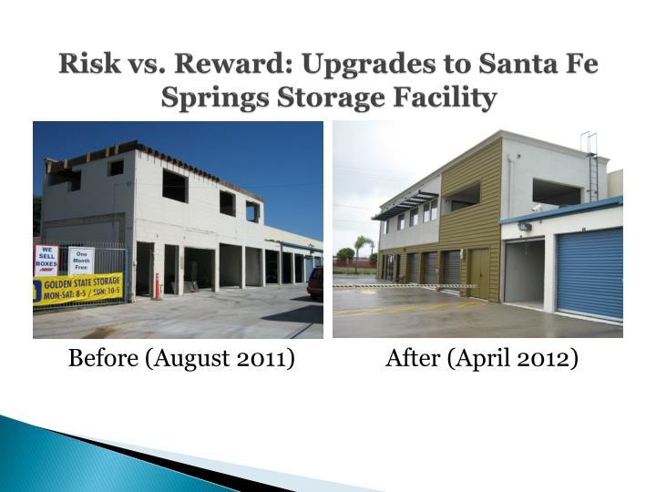 Risk vs. Reward: Upgrades to Santa Fe Springs Storage Facility