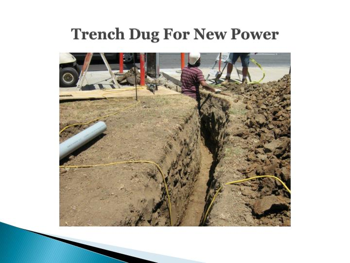 Trench Dug For New Power