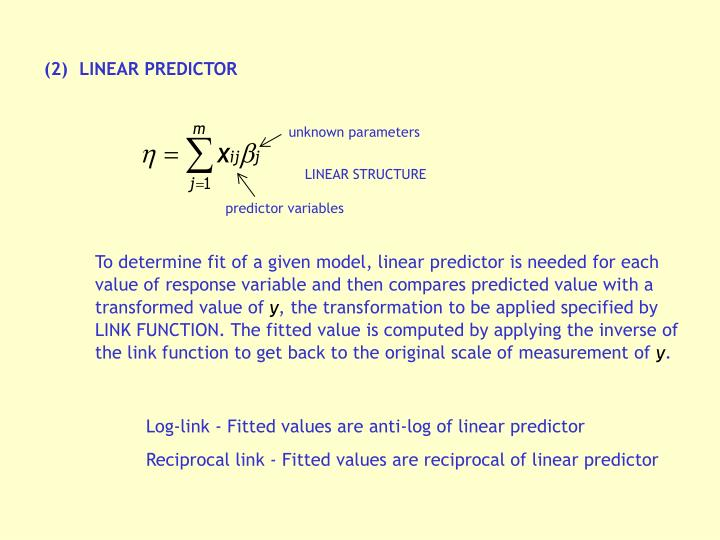 (2)	LINEAR PREDICTOR