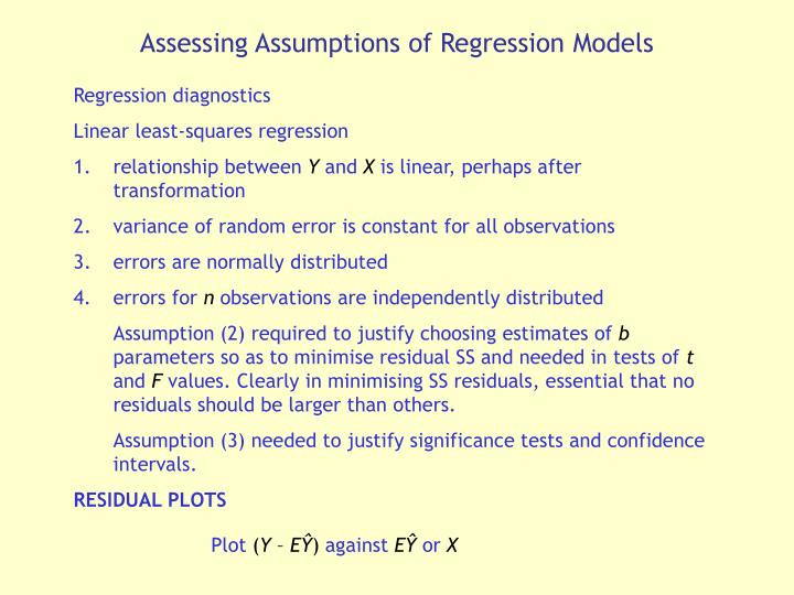 Assessing Assumptions of Regression Models