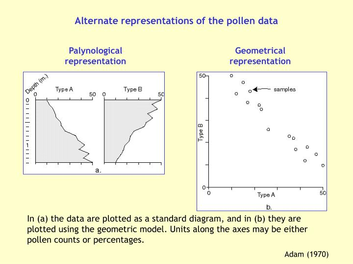 Alternate representations of the pollen data