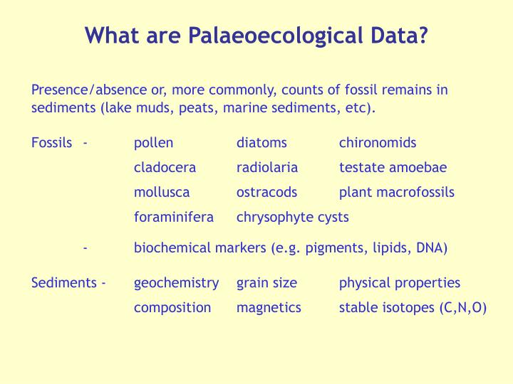 What are Palaeoecological Data?