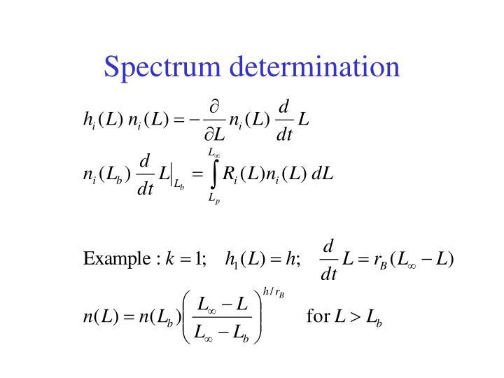 Spectrum determination