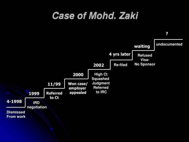 Case of Mohd. Zaki