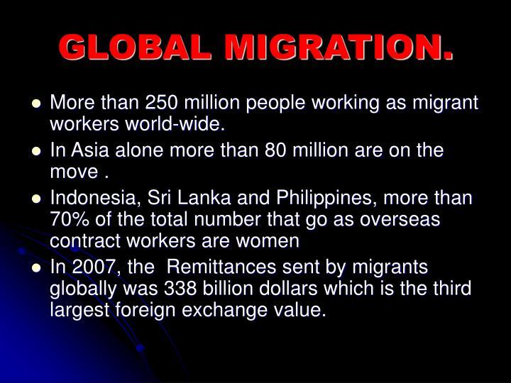 GLOBAL MIGRATION.