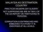 malaysia as destination country