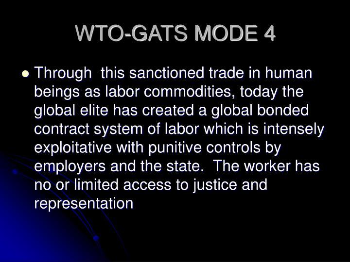 WTO-GATS MODE 4