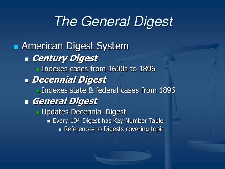 The General Digest