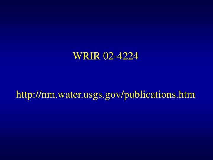 WRIR 02-4224