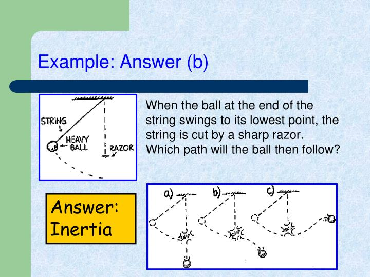 Example: Answer (b)