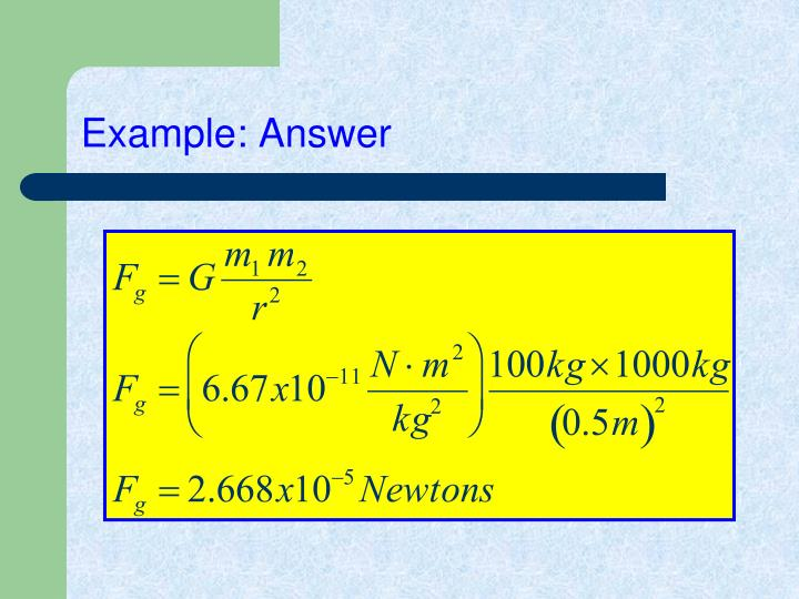 Example: Answer