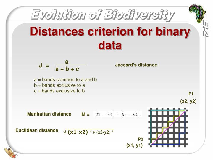 Distances criterion for binary data