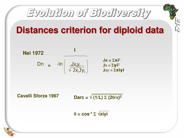 Distances criterion for diploid data